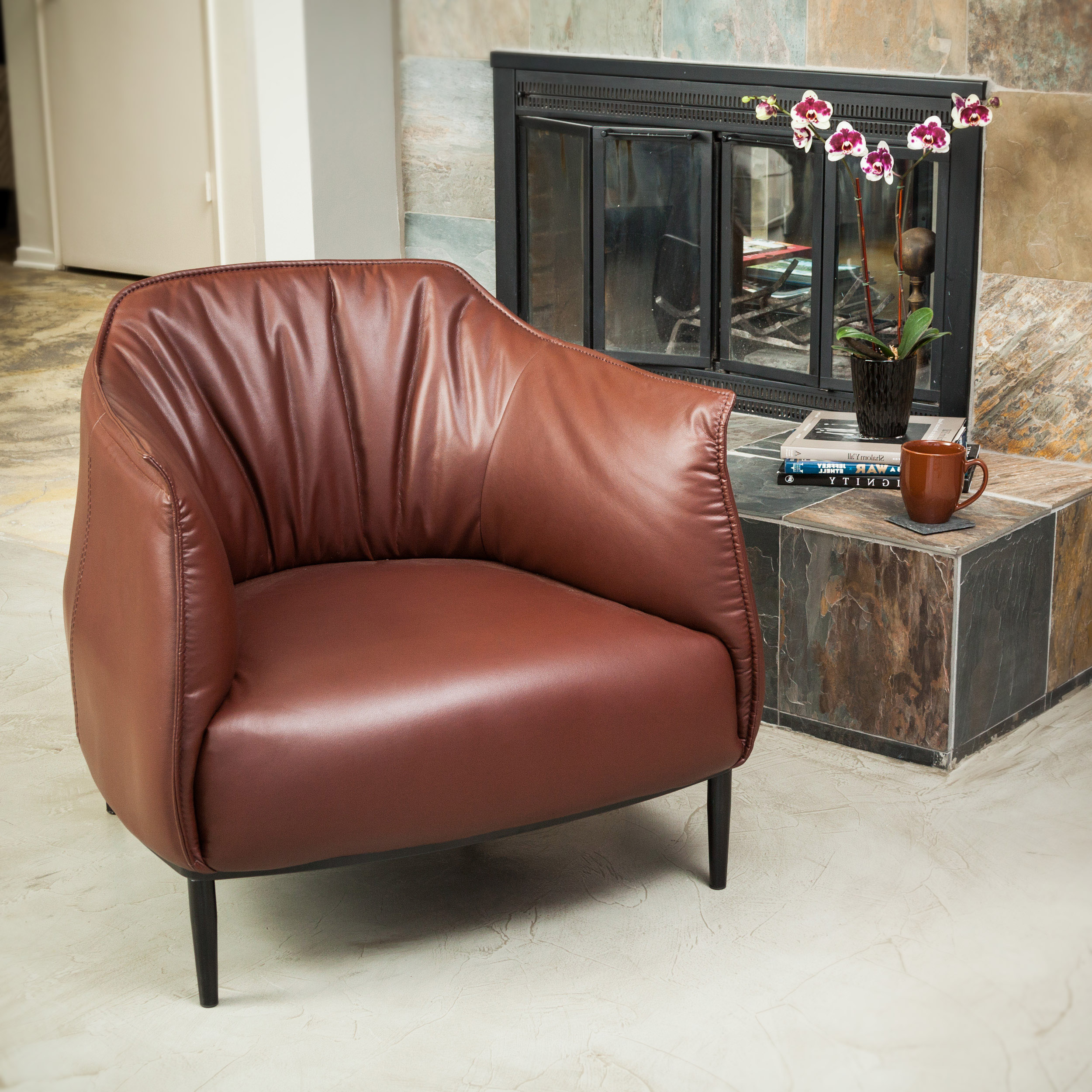Christopher Knight Home Chesterfield Tufted Leather