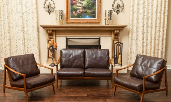 Christopher Knight Home Hampton Wood Frame Loveseat