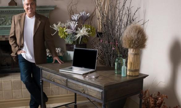 Christopher Knight Home Hylas Medium Brown Two-Drawer Desk