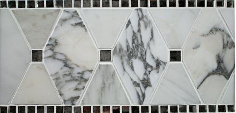 Kelli Ellis Alexa Border Marble and Mirror Tile