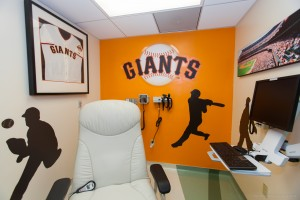 Rooms That Rock 4 Chemo, Giants Room Designed by Cora Sue Anthony. Photo Credit: Melissa Mermin