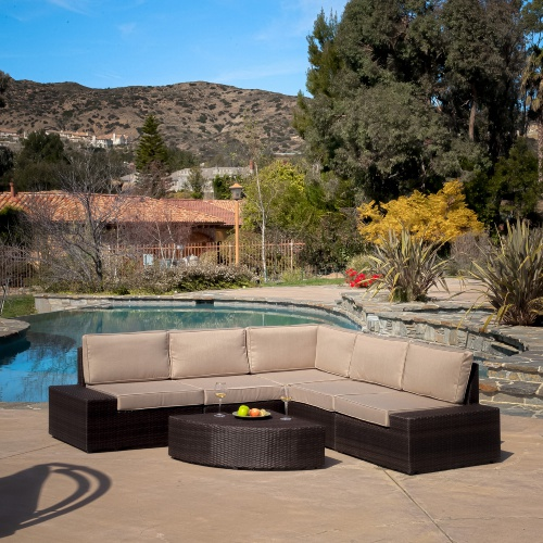 Christopher Knight Home Santa Cruz Outdoor Brown Wicker