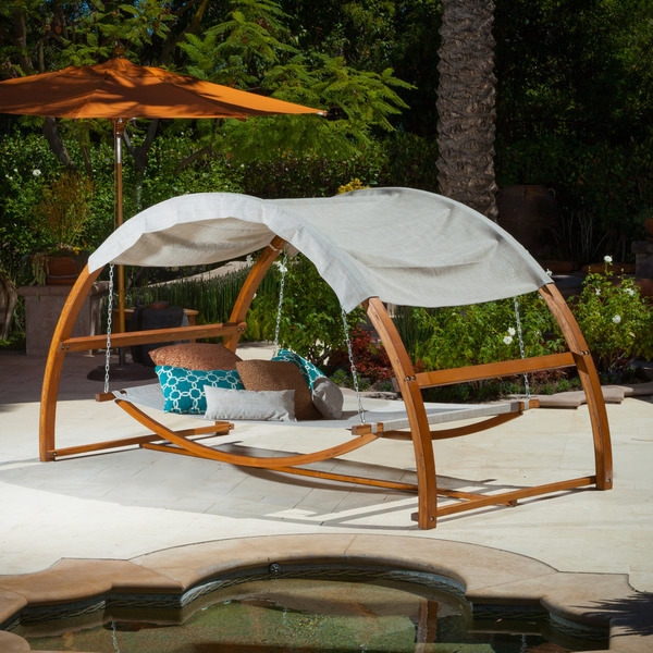 Christopher Knight Unwinds On The Tonga Swing Bed Christopher