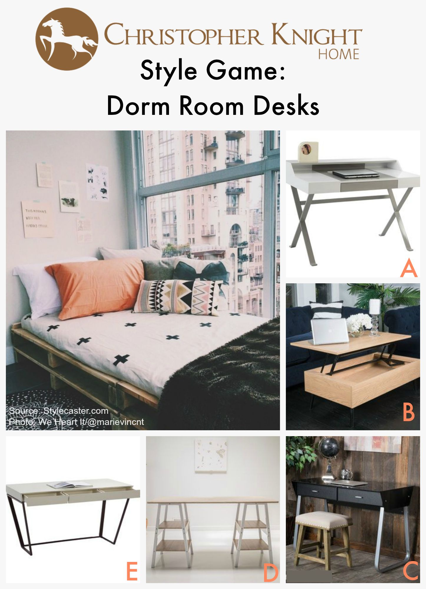 Style Game Dorm Room Desks Christopher Knight Home