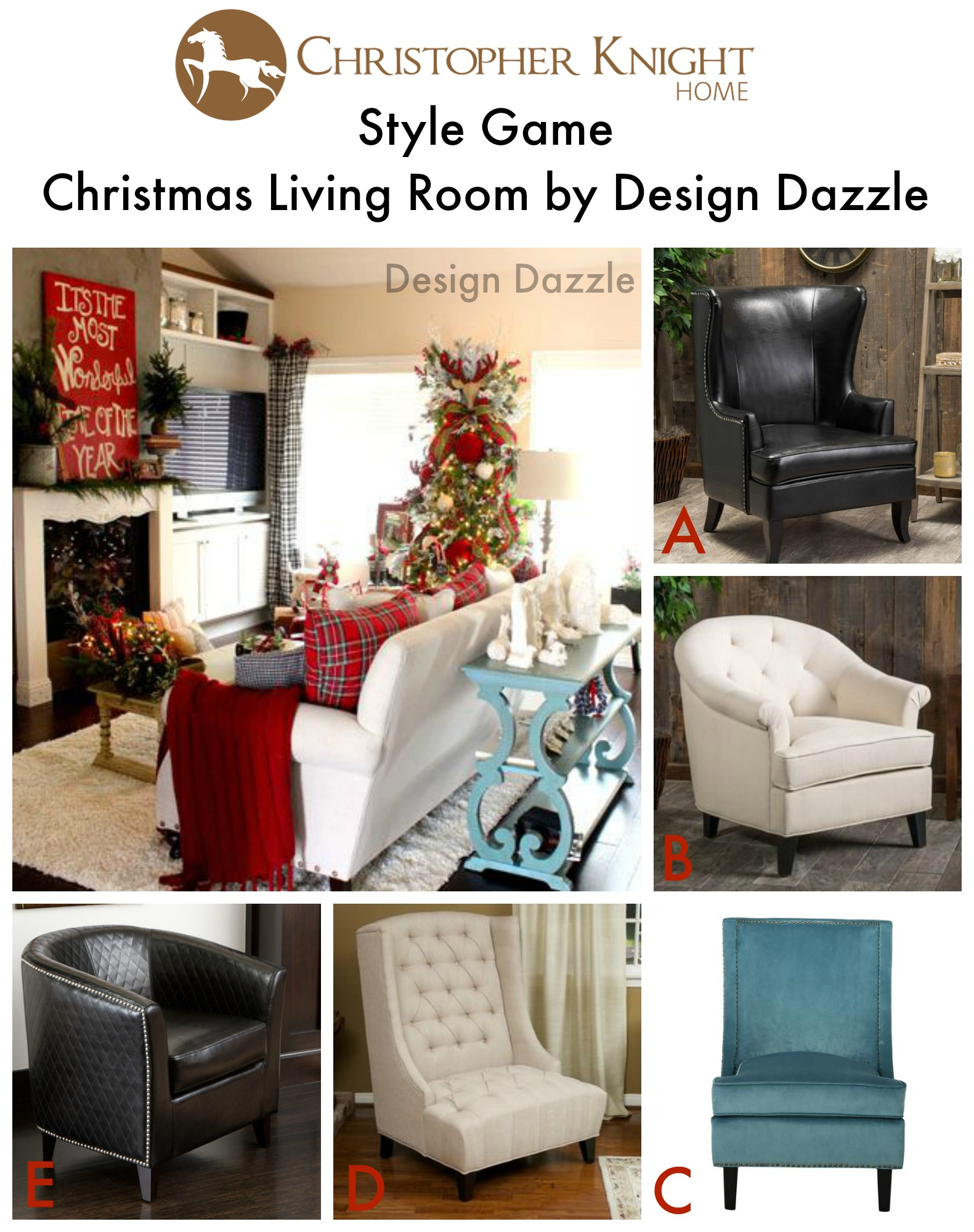 Style Game Design Dazzle Christmas Living Room