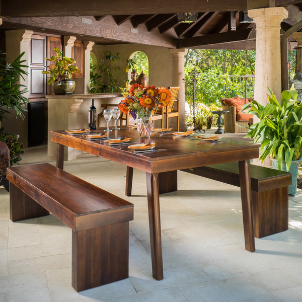Christopher Knight Home Greenway 3 Piece Wood Dining Set
