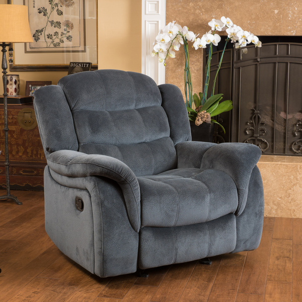 Christopher Knight Home Hawthorne Fabric Glider Recliner Club Chair