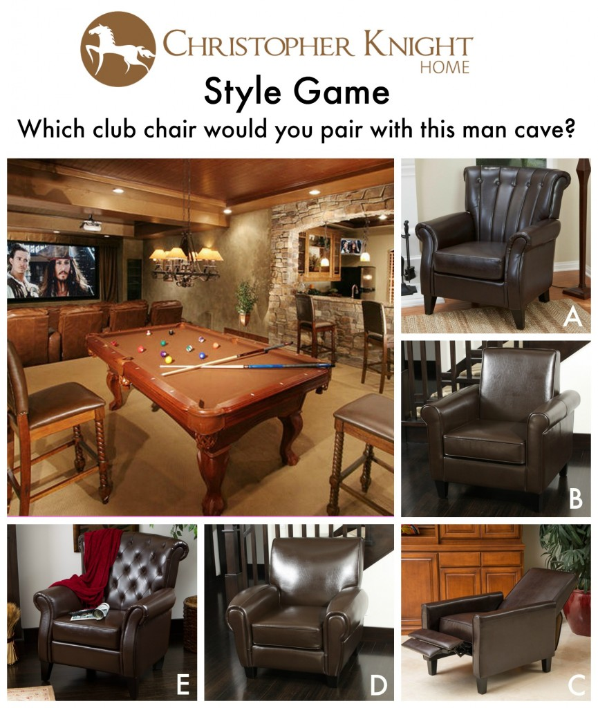 Man Cave Vote : Style game man cave christopher knight home