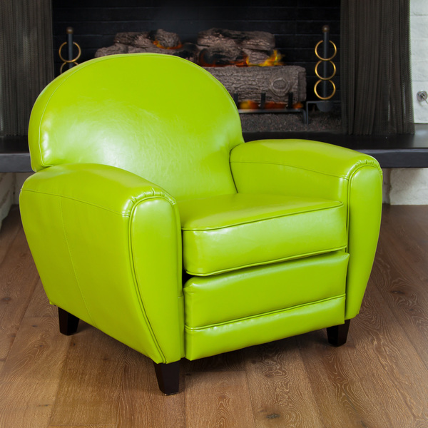 Etonnant Best Of The Bunch Oversized Lime Green Leather Club Chair