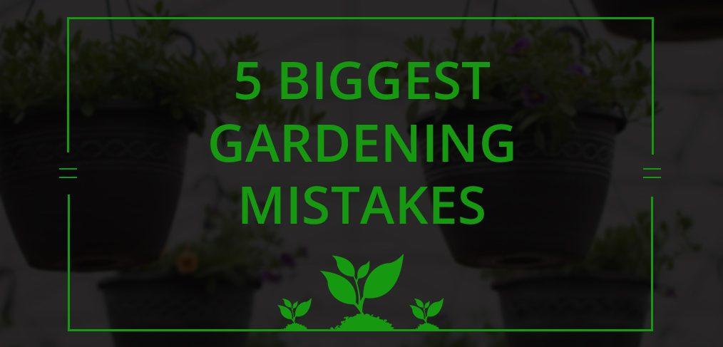 Biggest Gardening Mistakes