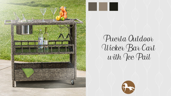 Puerta Bar Cart - how to stock your outdoor bar