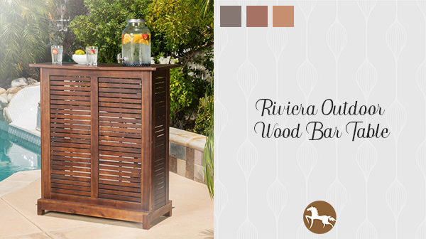 Riviera Wooden Bar - how to stock your outdoor bar