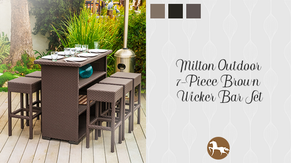 Milton Wicker Bar - how to stock your outdoor bar