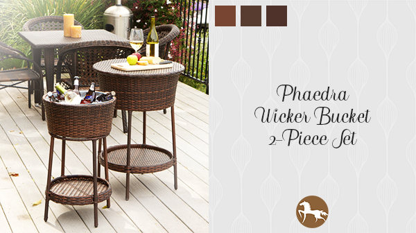 Phaedra Wicker Ice Bucket - how to stock your outdoor bar