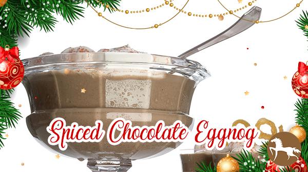 5 Totally Different Eggnog Recipes - Spiced Chocolate Eggnog
