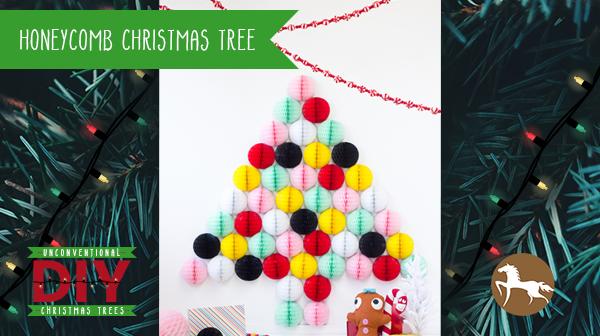 Unconventional DIY Christmas Trees - Honeycomb Christmas Tree