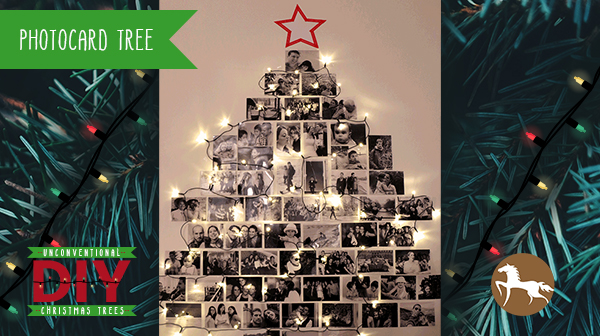 Unconventional DIY Christmas Trees - Photocard Tree