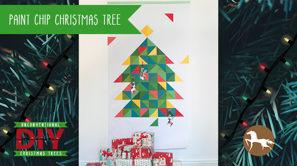 Unconventional DIY Christmas Trees - Paint Chip Christmas Tree