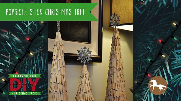 Unconventional DIY Christmas Trees - Popsicle Stick Christmas Tree