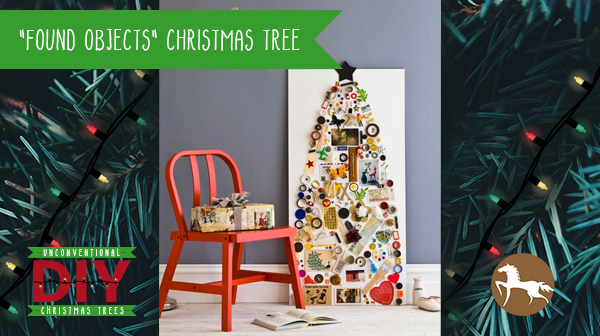 Unconventional DIY Christmas Trees - Found Objects Christmas Tree