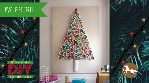 Unconventional DIY Christmas Trees - PVC Pipe Tree
